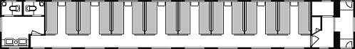 オハネ24形の車内配置