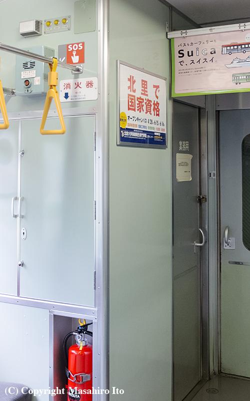 クハ115-2129 の車内(業務用室付近)