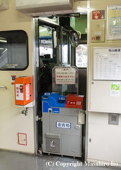 キハ40 1007の前位運転室後部