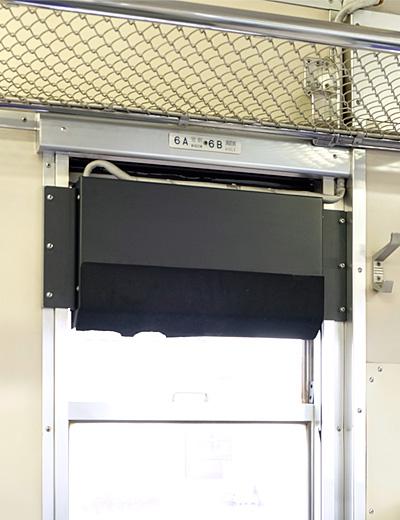 キハ40 2037の行先表示器(車内側)