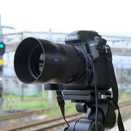 Milvus 50mm を取り付けた D850