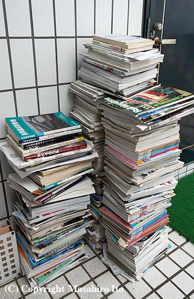 廃棄した本の山
