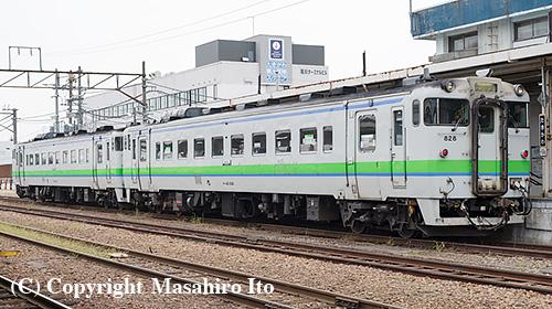 滝川駅に到着した根室本線の 2472D