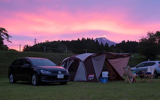 富士すそ野ファミリーキャンプ場にて